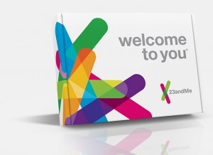 23andMe DNA testing kit. Photo from 23andme.com.