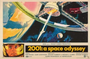 Original promo for 2001: A Space Odyssey features artwork of Space Station V by artist Robert McCall.