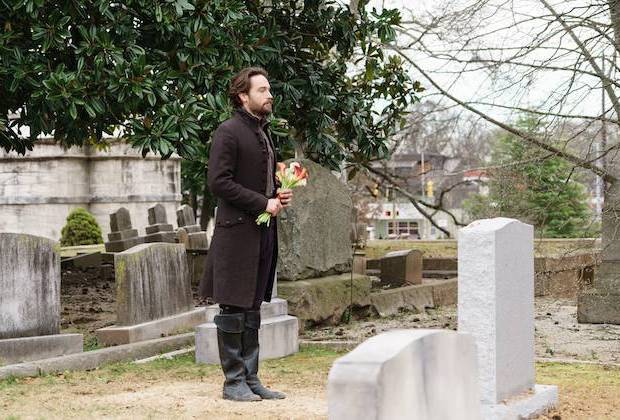 "SLEEPY HOLLOW: Tom Mison in the""Ragnarok"" season finale episode of SLEEPY HOLLOW airing Friday, April 8 (8:00-9:00 PM ET/PT) on FOX. ©2016 Fox Broadcasting Co. Cr: Tina Rowden/FOX"